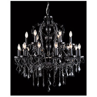 Avenue Lighting Onyx Lane 18 Light Chandelier in Black with Black Crystal HF1040-BLK