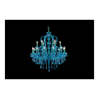 Avenue Lighting Ocean Drive 18 Light Chandelier in Blue with Aqua Blue Crstal HF1040-BLU
