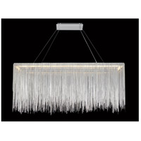 Avenue Lighting HF1201-CH Fountain Ave LED 12 inch Chrome Chain Hanging Chandelier Ceiling Light