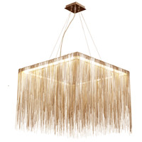Avenue Lighting HF1203-G Fountain Ave LED 24 inch Gold Hanging Chandelier Ceiling Light