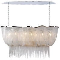 Avenue Lighting Mulholland Drive 6 Light Linear Pendant in Polish Chrome Jewelry Chain HF1401-CH