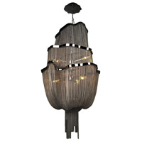 Avenue Lighting Mulholland Drive 6 Light Foyer in Black Chrome Jewelry Chain HF1402-BLK