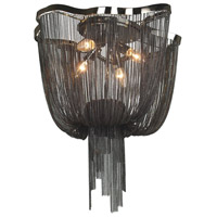 Avenue Lighting Mulholland Drive 4 Light Flush Mount in Black Chrome Chain HF1403-BLK