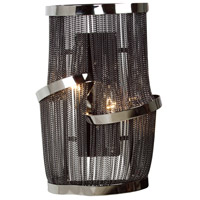 Avenue Lighting Mulholland Drive 2 Light Wall Sconce in Black Chrome Jewelry Chain HF1404-BLK