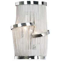 Avenue Lighting Mulholland Drive 2 Light Wall Sconce in Polish Chrome Jewelry Chain HF1404-CH