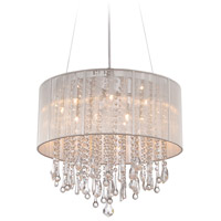 Avenue Lighting HF1500-SLV Beverly Dr 12 Light 32 inch Silver Silk String Flush Mount Ceiling Light, Convertible to Hanging