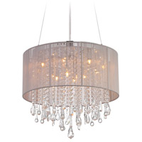 Avenue Lighting Beverly Drive 12 Light Dual Ceiling Mount with Round Taupe Silk String Shade and Crystal HF1500-TP