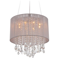 Avenue Lighting HF1501-TP Beverly Dr 8 Light 16 inch Taupe Silk String Flush Mount Ceiling Light, Convertible to Hanging