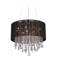 Beverly Dr 12 Light 20 inch Black Silk String Flush Mount Ceiling Light, Convertible to Hanging