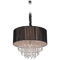 Vineland Ave 6 Light 19 inch Black Silk String Hanging Chandelier Ceiling Light