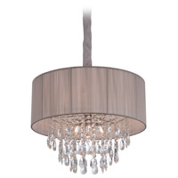Vineland Ave 6 Light 19 inch Taupe Silk String Hanging Chandelier Ceiling Light