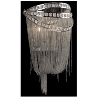 Wilshire Blvd 2 Light 10 inch Polished Nickel and Crystal Wall Sconce Wall Light in Polished Nickel with Crystal