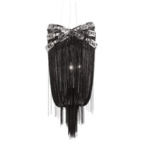 Avenue Lighting Wilshire Drive 4 Light Foyer in Black Chrome with Smoke Crystal HF1608-BLK