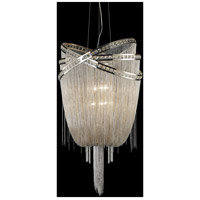 Wilshire Blvd 4 Light 15 inch Polished Nickel with Crystal Foyer Chandelier Ceiling Light