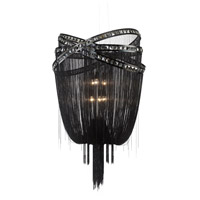 Avenue Lighting Wilshire Drive 6 Light Foyer in Black Chrome with Smoke Crystal HF1609-BLK