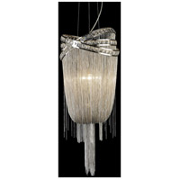 Wilshire Blvd 6 Light 27 inch Polished Nickel with Crystal Foyer Chandelier Ceiling Light