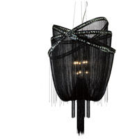 Avenue Lighting Wilshire Drive 9 Light Foyer in Black Chrome with Smoke Crystal HF1610-BLK