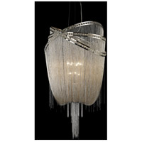 Wilshire Blvd 9 Light 36 inch Polished Nickel and Crystal Foyer Chandelier Ceiling Light in Polished Nickel with Crystal