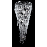 Avenue Lighting Hollywood Blvd. 29 Light Pendant in Polish Nickel with Clear Glass Tear Drops HF1805-PN