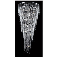 Hollywood Blvd 29 Light 34 inch Polished Nickel Hanging Chandelier Ceiling Light