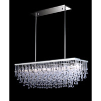Avenue Lighting Hollywood Blvd. 6 Light Pendant in Polish Nickel with Clear Glass Tear Drops HF1807-PN