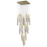 Glacier Avenue LED 36 inch Brushed Brass Pendant Ceiling Light