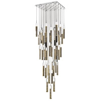 Avenue Lighting HF1903-41-GL-CH Glacier Avenue LED 36 inch Chrome Flush Mount Pendant Ceiling Light