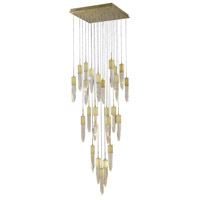 Aspen LED 28 inch Brushed Brass Pendant Ceiling Light