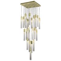 Avenue Lighting HF1904-25-BOA-BB Boa 25 Light 28 inch Brushed Brass Pendant Ceiling Light