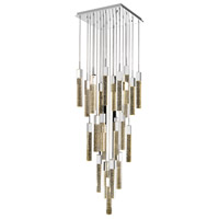 Avenue Lighting HF1904-25-GL-CH Glacier Avenue LED 28 inch Chrome Flush Mount Pendant Ceiling Light