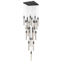 Avenue Lighting HF1904-25-GL-DBZ Glacier Avenue LED 28 inch Dark Bronze Flush Mount Pendant Ceiling Light