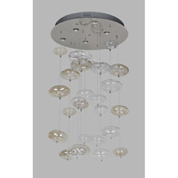 Avenue Lighting Coldwater Street 6 Light Flush Mount Chandelier with Smoke and Clear Bubbles HF2001-SMK/CLR