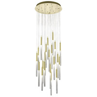 Boa 21 Light 22 inch Brushed Brass Pendant Ceiling Light