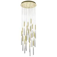Avenue Lighting HF2021-BOA-BB Boa 21 Light 22 inch Brushed Brass Pendant Ceiling Light