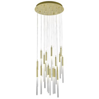 Main St 21 Light 22 inch Brushed Brass Pendant Ceiling Light