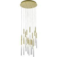 Avenue Lighting HF2021-FR-BB Main St 21 Light 22 inch Brushed Brass Pendant Ceiling Light