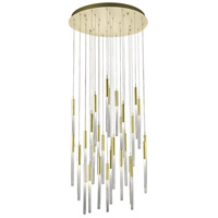 Boa 31 Light 30 inch Brushed Brass Pendant Ceiling Light