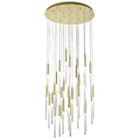 Main St 31 Light 30 inch Brushed Brass Pendant Ceiling Light
