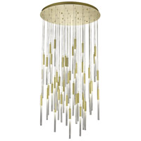 Boa 51 Light 37 inch Brushed Brass Pendant Ceiling Light