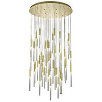 Avenue Lighting HF2051-BOA-BB Boa 51 Light 37 inch Brushed Brass Pendant Ceiling Light
