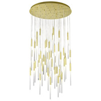 Avenue Lighting HF2051-FR-BB Main St 51 Light 37 inch Brushed Brass Pendant Ceiling Light