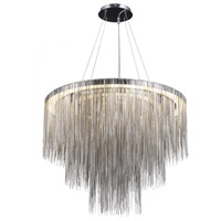 Fountain Avenue 18 Light 30 inch Polished Nickel Pendant Ceiling Light