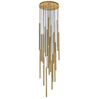 Avenue Lighting HF2800-AB Filmore Ave LED 28 inch Antique Brass Hanging Chandelier Ceiling Light
