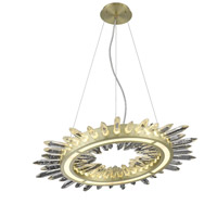 Avenue Lighting HF3027-BB Aspen LED 27 inch Brushed Brass Chandelier Ceiling Light