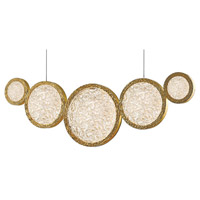 Avenue Lighting HF5010-PB Bottega LED 2 inch Polished Brass Hanging Chandelier Ceiling Light