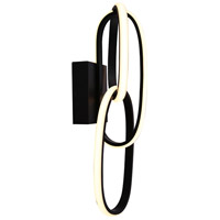 Avenue Lighting HF5022-BK Circa LED 6 inch Black Wall Sconce Wall Light