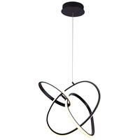 Avenue Lighting HF5023-BK Circa LED 21 inch Black Hanging Pendant Ceiling Light
