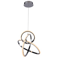 Avenue Lighting HF5023-CH Circa LED 21 inch Chrome Hanging Pendant Ceiling Light