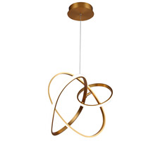 Avenue Lighting HF5023-GL Circa LED 21 inch Gold Hanging Pendant Ceiling Light