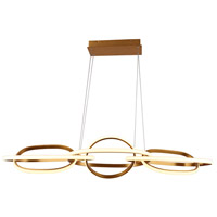 Avenue Lighting HF5025-GL Circa LED 21 inch Gold Hanging Pendant Ceiling Light